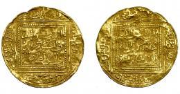 795  -  MONEDAS EXTRANJERAS. MUNDO ISLÁMICO. Hafsíes. Yahya I. Dobla. Sin fecha ni ceca. AU 4,61 g. 30,3 mm. MBC-.