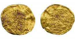 796  -  MONEDAS EXTRANJERAS. MUNDO ISLÁMICO. Meriníes. 1/2 dinar. Abu Said Utman III. Azammur. AU 2,30 g. 25,9 mm. Ligeramente descentrada. MBC-.