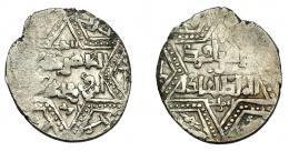 797  -  MONEDAS EXTRANJERAS. MUNDO ISLÁMICO. Dirhem. Pseudo Aleppo. 618 H (1221). AR 2,89 g. 21,9 mm. Vanos. MBC+.