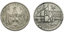 843  -  MONEDAS EXTRANJERAS. ALEMANIA Y ESTADOS ALEMANES. 3 marcos. 1927 A. KM-53. EBC-.