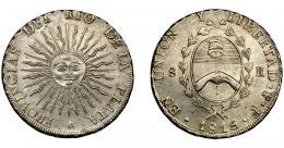 857  -  MONEDAS EXTRANJERAS. ARGENTINA. 8 reales. Provincia del Río de la Plata. 1815. Potosí F. KM-14. EBC-.