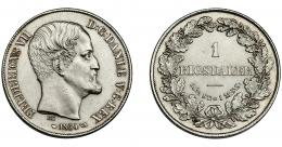 873  -  MONEDAS EXTRANJERAS. DINAMARCA. 1 Rigsdaler. 1854. KM-760.1. EBC+.
