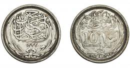 877  -  MONEDAS EXTRANJERAS. EGIPTO. 10 piastras. H-1335/1916. KM-320. MBC-.