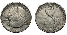 889  -  MONEDAS EXTRANJERAS. ESTADOS UNIDOS DE AMÉRICA. 1/2 dólar conmemorativo. 1923. MONROE DOCTRINE CENTENNIAL. KM-153. MBC.