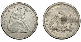 891  -  MONEDAS EXTRANJERAS. ESTADOS UNIDOS DE AMÉRICA. 1 dólar. 1859-O. KM-71. Pequeñas marcas. EBC-/EBC.