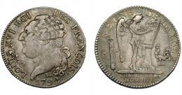 911  -  MONEDAS EXTRANJERAS. FRANCIA. Luis XVI. 1/2 escudo. 1792A. KM-613.1. MBC-.