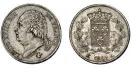 915  -  MONEDAS EXTRANJERAS. FRANCIA. 2 francos. 1823.A. KM-710.1. EBC-.