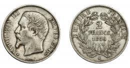 917  -  MONEDAS EXTRANJERAS. FRANCIA. 2 francos. 1856. BB. Marca de ceca pequeña- KM-780.2. MBC-(MBC.