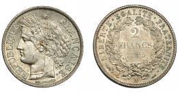 919  -  MONEDAS EXTRANJERAS. FRANCIA. 2 francos. 1895. A. KM-822.1. EBC+.
