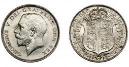 934  -  MONEDAS EXTRANJERAS. GRAN BRETAÑA. 1/2 corona. 1912. KM-818.1. EBC.