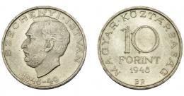 940  -  MONEDAS EXTRANJERAS. HUNGRÍA. 10 forint. 1948. BP. KM-558. SC.