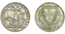 971  -  MONEDAS EXTRANJERAS. PORTUGAL. 10 escudos. 1937. KM-581. MBC+.