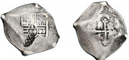 1035  -  COLECCIÓN DE RESELLOS. INDIAS HOLANDESAS SUMENEP (isla de Madura). Ducatón. Resello sobre 8 reales S/F. México. AR 26,2 g. BC+.