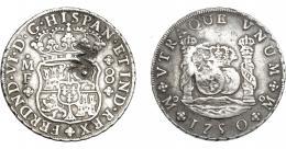 1044  -  COLECCIÓN DE RESELLOS. MOZAMBIQUE. 8 reales. Resello MR enlazadas sobre 8 reales 1750 México MF. KM-104.1. Gomes-29.01. MBC.