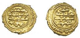 1084  -  MONEDA EXTRANJERA. MUNDO ISLÁMICO. FATIMÍES. Al-Mustansir (427-487 H). 1/4 dinar. S.C./S.F. AU 0.98 g. 12,7 mm. Nicol-tipo A3. MBC+.