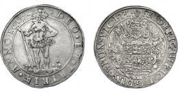 1085  -  MONEDAS EXTRANJERAS. ESTADOS ALEMANES. BRUNSWICK-WOLFENBUTTEL. Tálero. 1617. KM-52.1. DAV-6303. MBC/MBC+.