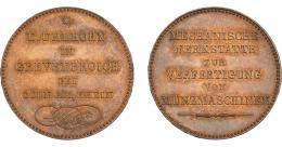 1086  -  MONEDAS EXTRANJERAS. ESTADOS ALEMANES. KÖLN. Token-anuncio del fabricante. Uhlhorn Grevenbroich. En el canto DIEU PROTEGE LA PATRIE. 1846. AR 37 mm. R.B.O. SC.