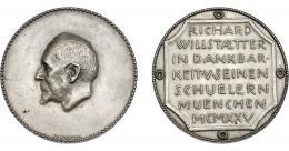 1088  -  MONEDAS EXTRANJERAS. ALEMANIA. Medalla. Richard Willstaetter. 1925. Premio Nobel de Química en 1915. AR 49,5 mm. Grabador H. Hahn. EBC.