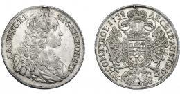 1089  -  MONEDAS EXTRANJERAS. AUSTRIA. Tálero. 1738. Praga. DAV-1087.  HER-396. Rayitas. Restos de soldadura. EBC.