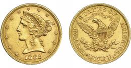 1094  -  MONEDAS EXTRANJERAS. ESTADOS UNIDOS DE AMÉRICA. 5 dólares. 1882. KM-101. EBC-.