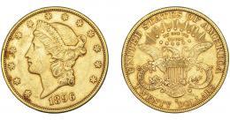 1097  -  MONEDAS EXTRANJERAS. ESTADOS UNIDOS DE AMÉRICA. 20 dólares. 1896-S. KM-74.3.MBC/MBC+.