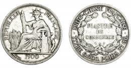 1104  -  MONEDAS EXTRANJERAS. INDOCHINA. Piastra. 1900-a. KM-5a.1. MBC-.
