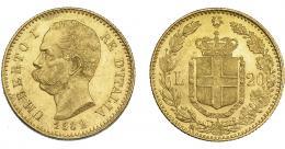 1105  -  MONEDAS EXTRANJERAS. ITALIA. 20 liras. 1882. Roma. KM-21. B.O. EBC.