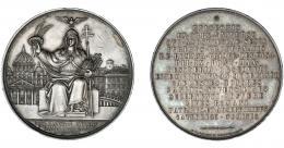 1110  -  MONEDAS EXTRANJERAS. VATICANO. Pío IX. Medalla canonización de los franciscanos martirizados en Japón. Grabador Zaccaginini. AR 51 mm. Pequeñas marcas. EBC.