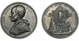 1111  -  MONEDAS EXTRANJERAS. ESTADOS PAPALES. León XIII. Medalla. 1898. R/ BORGIANIS DIDETIS IN CULTUM PRISTINUM RESTITUTIS. Grabador Bianchi. AE 43  mm. EBC.