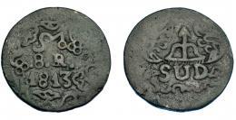 1123  -  MONEDAS EXTRANJERAS. MÉXICO. Morelos. 8 reales. 1813. KM-234. MBC-.