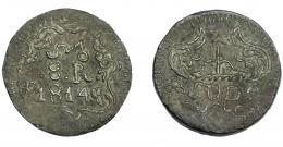 1124  -  MONEDAS EXTRANJERAS. MÉXICO. 8 reales. G. Morelos. 1814. Cobre. KM-234. MBC.