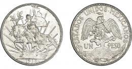 1127  -  MONEDAS EXTRANJERAS. MÉXICO. Peso. 1913. KM-453. EBC-.