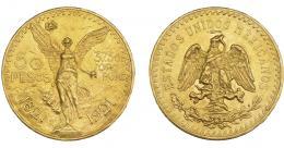 1130  -  MONEDAS EXTRANJERAS. MÉXICO. 50 pesos. 1921. KM-481. Pequeñas marcas. EBC-.