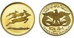 1136  -  MONEDAS EXTRANJERAS. YEMEN. 10 riyals. 1969. KM-7. Prueba.