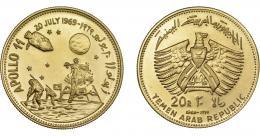 1138  -  MONEDAS EXTRANJERAS. YEMEN. 20 riyals. 1969. KM-8. Prueba.