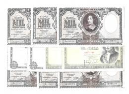 1143  -  BILLETES ESPAÑOLES. Lote de 10 billetes de 1000 pts.: 1-1940 (6), 2-1946 (2), 11-1949 (2). Calidad media BC+.