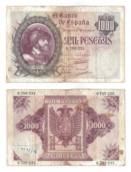 1151  -  BILLETES ESPAÑOLES. 1000 pts. 10-1940. ED-D46.