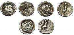 296  -  GRECIA ANTIGUA. MACEDONIA. Alejandro III. Lote de 3 tetradracmas.BC+/MBC-.