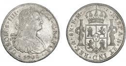 817  -  CARLOS IV. 8 reales. 1798. México. FM. VI-794. R.B.O. MBC/MBC+.