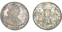 818  -  CARLOS IV. 8 reales. 1799. México. FM. VI-795. Bonita pátina. MBC+.