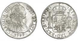 819  -  CARLOS IV. 8 reales. 1799. México. FM. VI-795. R.B.O. MBC+.
