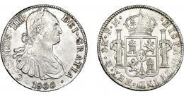 820  -  CARLOS IV. 8 reales. 1800. México. FM. VI-796. MBC+.