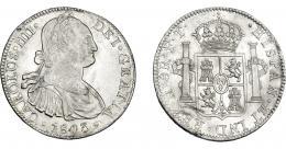 823  -  CARLOS IV. 8 reales. 1803. México. FT. VI-800. Oxidación limpiada. R.B.O. EBC-.