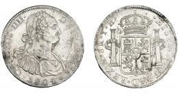 824  -  CARLOS IV. 8 reales. 1804. México. TH. VI-802. Leves vanos. R.B.O. MBC+/EBC.