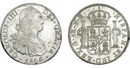 826  -  CARLOS IV. 8 reales. 1806. México. TH. VI-804. B.O. EBC/EBC+.