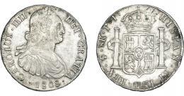830  -  CARLOS IV. 8 reales. 1808. Potosí. PJ. VI-828. Leves oxidaciones. MBC+.