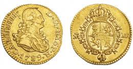 832  -  CARLOS IV. 1/2 escudo. 1789. Madrid. MF. VI-868. Hojitas. MBC+. Muy escasa.