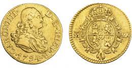 833  -  CARLOS IV. 1/2 escudo. 1794. Madrid. MF. VI-873. Hojitas. MBC. Muy escasa.