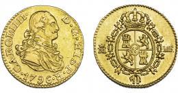 835  -  CARLOS IV. 1/2 escudo. 1796. Madrid. MF. VI-875. MBC+/EBC-. Muy escasa.