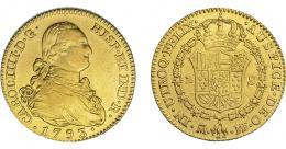 837  -  CARLOS IV. 2 escudos. 1793. Madrid. MF. VI-1041. MBC.